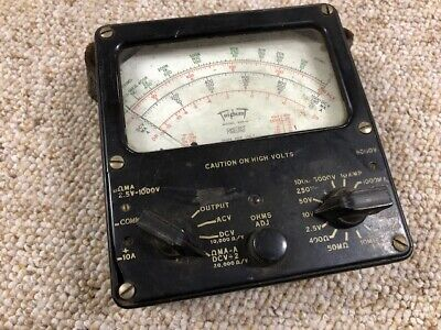 Vintage Triplett Red Dot Model 625-NA Volt Ohm Meter Multimeter Rare