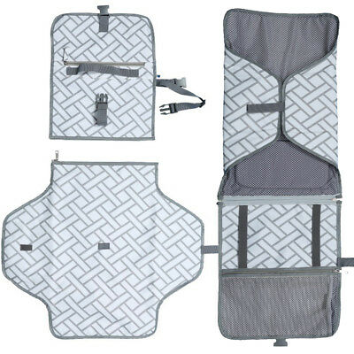 LX_ FM- Portable Diaper Changing Pad Baby Infant Nappy Nursery Mat Accessories