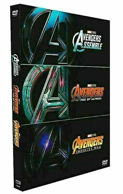 AVENGERS 1-3 DVD Film Collection Assemble, Age of Ultron, Infinity War