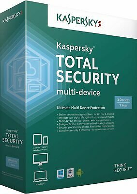 Kaspersky Total Security 2018 1 PC / Geräte / 1 Jahr / Download