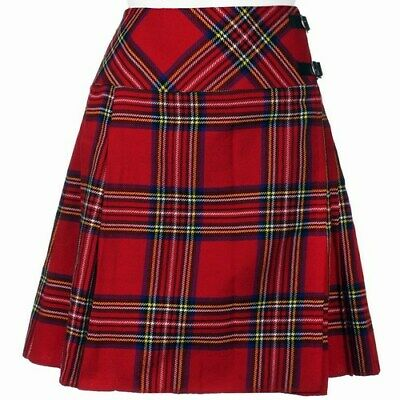 "Royal Stewart Ladies Knee Length Kilt Skirt 20"" Length Tartan Pleated Kilts"