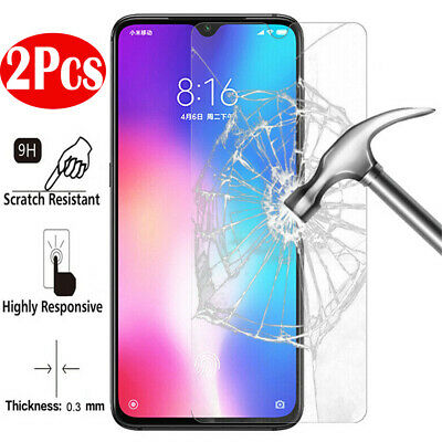 2X Tempered Glass Screen Protector For XiaoMi Redmi Note 7 6 5 Pro 5 Plus 6A S2