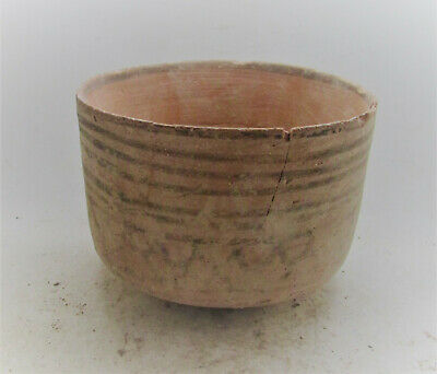Circa 2200-1800Bce Ancient Indus Valley Harappan Terracotta Pottery Vessel