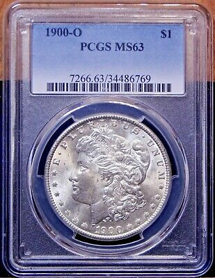 1900-O Morgan Dollar PCGS MS63 VAM-35A Die Crack Date, STRONG Markers Nice Coin!