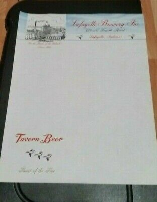 1860 Indiana Letterhead Lafayette Brewery Inc Tavern Beer On Banks of Wabash