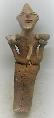 Extremely Rare Ancient Ubaidian Terracotta Lizardman Statuette