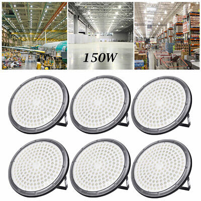 6X 150W UFO DEL High Bay Light Industriel Lampe Entrepôt Commercial éclairage