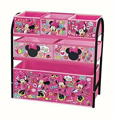 Minnie Mouse Children Toy Metal Storage Box Organiser Bedroom Playroom Furniture