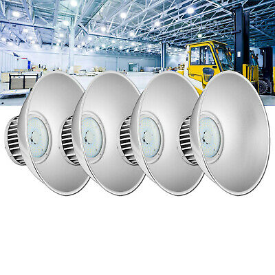 4X 100W DEL High Bay Light Industriel Lampe Entrepôt Lighting blanc froid IP54