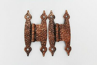 "Vintage Antique Hammered Copper Color Cabinet Hinge - 3 1/2"" 1 PAIR"
