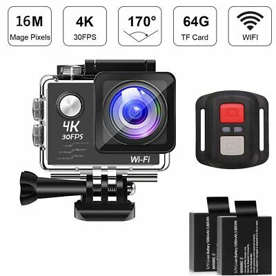 4K 2'' Ultra HD 1080P Sport WiFi Cam Action Camera Video Recorder 16MP GoPro