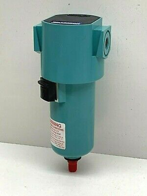 """Wilkerson F16-02-FM0 Particulate Compressed Air Filter 1/4"""" NPT Automatic Drain"""