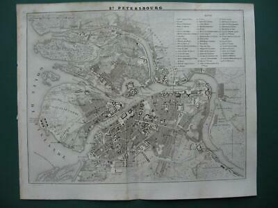 1838 - DUFOUR - RUSSIA  Small city plan PETERSBURG