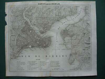 1838 - DUFOUR - TURKEY  Small city plan ISTANBUL