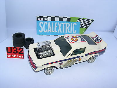 Scalextric Exin C-4049 Ford Mustang Dragster #5 Blanc Excellent Etat