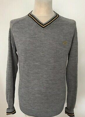 040b4373f3ce4a FRED PERRY MENS Wool Jumper Sweater Size M Medium Pink Crewneck Wool ...