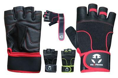 Men's Sports Gym body building Weight Lifting Leather Gloves Padded Fitness