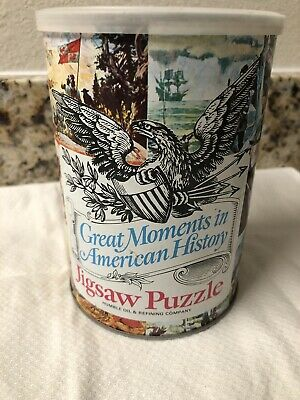 "Vintage 1969 Humble Oil ""Great Moments In American History"" Jigsaw Puzzle.  # 1"