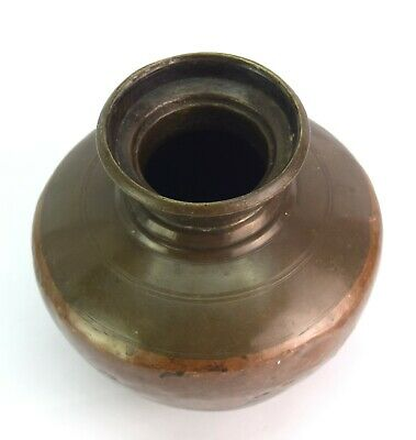 Indian Traditional Lota – Vintage Ganga Jamuna Water Heavy Big Pot. G56-121 US