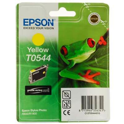 NEW Epson R800 Yellow Ink Cartridge T0544 GENUINE