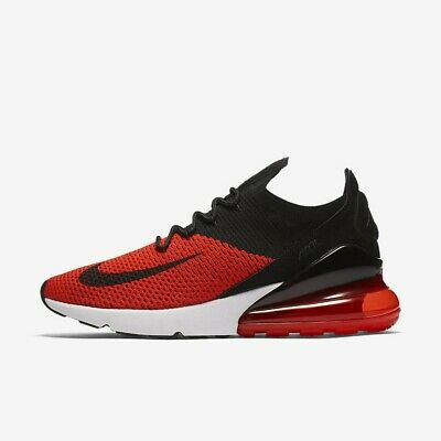 Nike Air Max 270 Flyknit AO1023-601 Chile Red Black White Men's Running Shoes
