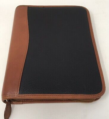 Day-Timer Genuine Leather (Brown & Cobbled Black) 7 Rings Planner 10.5 x 8.25