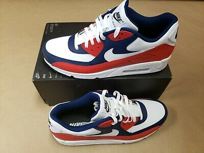 huge selection of 2beb8 1de88 Nike Air Max 90 Id White-Red-Blue Size 14  Bq8747-992