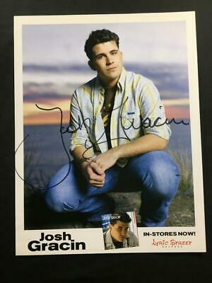 Josh Gracin Autographed Authentic Hand Signed Signature Country Music Photo A114