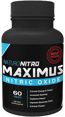 Maximus | Nitric Oxide Supplement | High Potency NO Booster | L-arginine | and