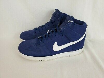newest f389c 73a25 Nike Dunk Hi Binary Blue White Men s Leather Basketball Shoes 904233-400 Sz  10.5