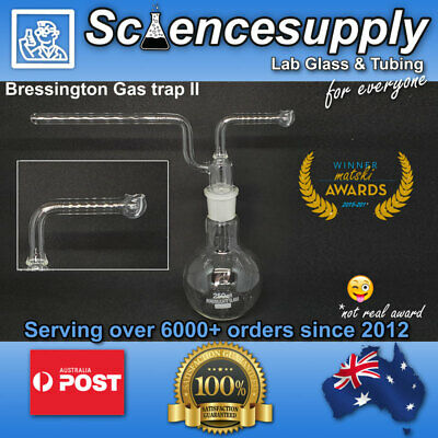 Drechsel Bottle Gas trap 250ml - Bressington 2 bulb