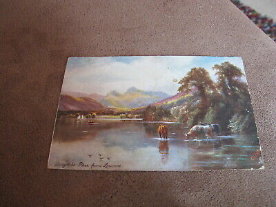 Raphael Tuck Oilette postcard-Langdale Pikes from Lowood-Cumbria / Lake District