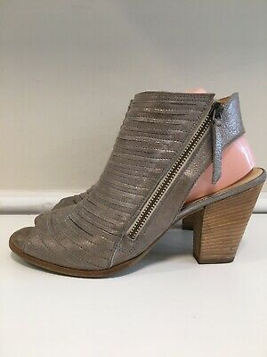 Women's Shoes Clothing, Shoes & Accessories $349 Paul Green Cayanne Metallic Smoke Leather Peep Toe Sandals Booties