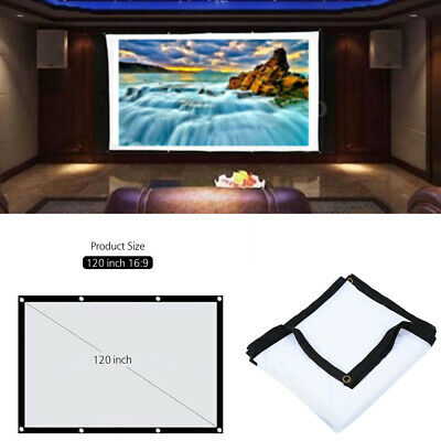 "120"" Indoor Outdoor Portable Projector Screen Projection Screen HD Home Theater"