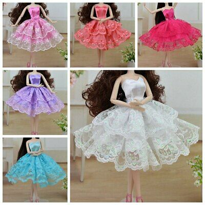 Colorful Handmade Ballet Doll Dress Party Gown Princess Clothes For 11.5in Doll