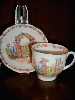 Rose Cottage Bell Vintage Cup & Saucer Bone China England