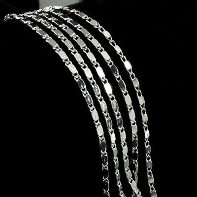 Lot 5Pcs 925 Sterling Silver Curb Link Chain Necklace Women Wedding Jewelry Gift