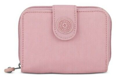eb5cd4378ee Kipling New Money Deluxe Wallet Strawberry Pink Tonal/Silver Retail $34