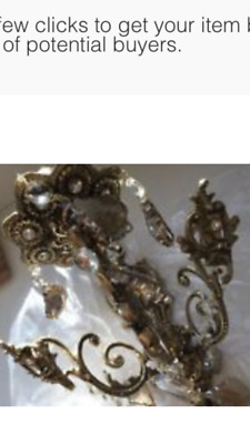 Brand New Antique Brass Electric Wall Sconce