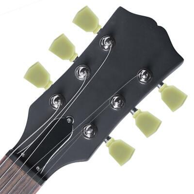 6 Pcs Green Musical Instrument Tuning Pegs Heads Parts For Folk Electric Guitar