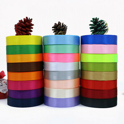25 yards Full Roll Double Sided DIY Satin Ribbon Party Wedding Craft Decoration