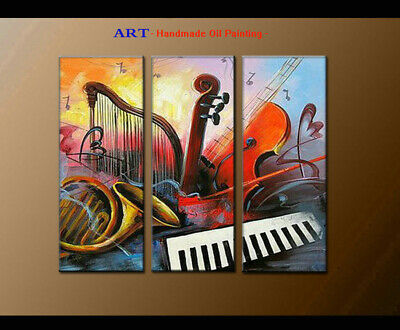 Large Hot Wall Art Modern Abstract Musical Oil Painting Home Decor Framed A4062
