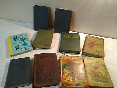 Lot of 10 Vintage Old Antique Hardcover Books - Mixed Color - Random/Unsorted