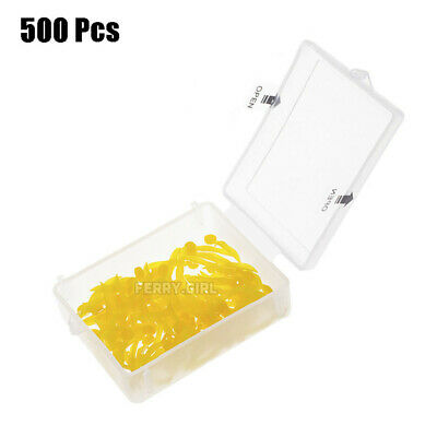 500pcs Dental disposable Plastic Wedge With Hole Medium size wave shape Wedges