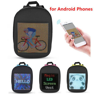 WiFi Dynamic Backpack Portable LED Advertise Bag Mobile Billboard 25x25cm Screen