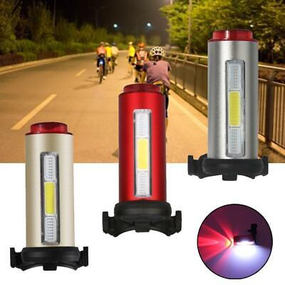 Cycling Bicycle Bright Red+White+Blue LED Rear Tail Light 7 Modes Bike Lamp IR