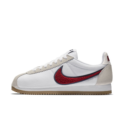 best loved 7591f 1af29 Nike Classic Cortez Premium Running Shoes White Womens Red 8 New 905614-103
