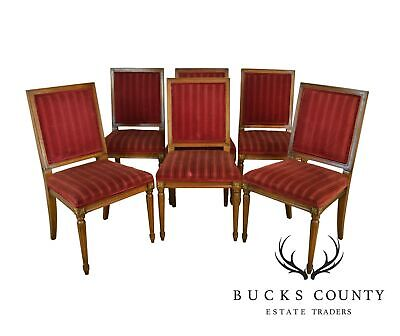 Kindel French Louis XVI Style Vintage Set 6 Dining Chairs
