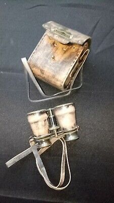 Solid Brass Nautical Binoculars With Leather Case