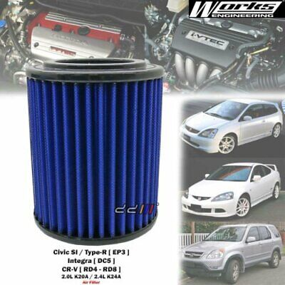 NEW WORKS High Flow Air Filter Fits Honda Integra DC5 Type-R K20A Civic Si EP3